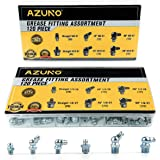 AZUNO Grease Fittings, 240 Pieces SAE & Metric Grease Fitting Assortment with 120 PCS Grease Fitting Caps, Standard…