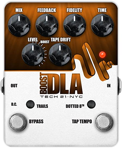 Efectos Guitarra eléctrica Tech21 Boost DLA con Tap Tempo Reverb – Delay