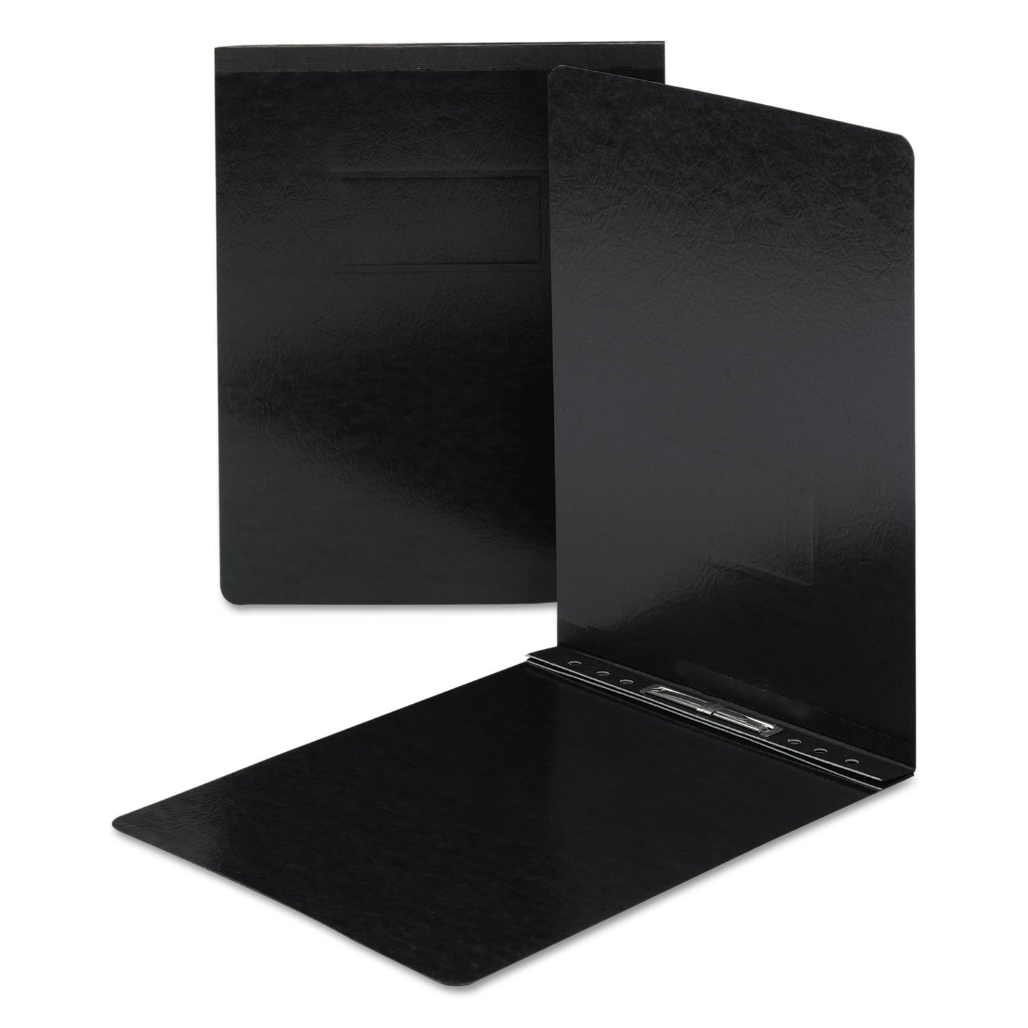 Smead 81124 End Opening Pressguard Report Cover, Prong Fastener, Letter, Black