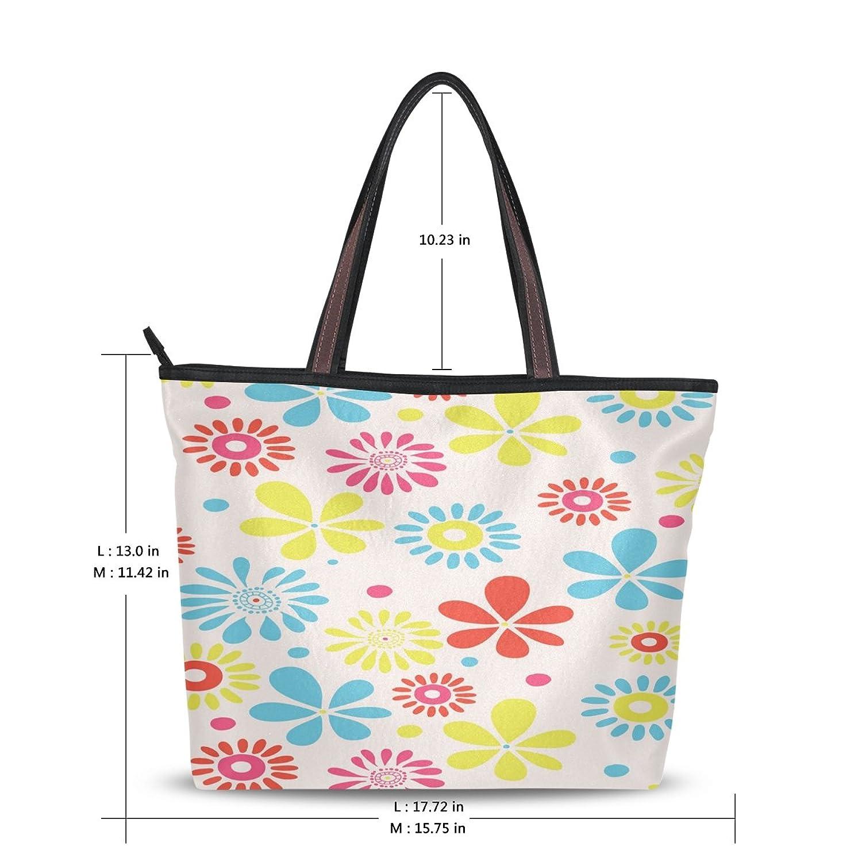 WHBAG Lightweight Handbag For Women,Colorful Sunflower,Shoulder Tote Bag