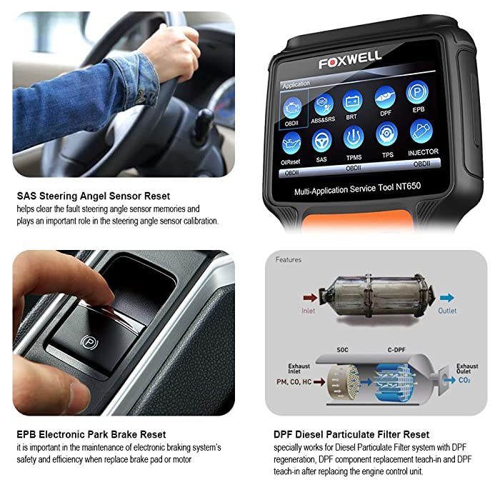 FOXWELL NT650 is one of the best OBD2 Car Diagnostic Scanner