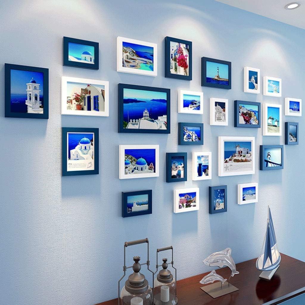 額縁セット、壁用フォトフレームセット、額縁コラージュ、背景の壁画、写真壁5枚、7枚、10インチ (Color : Overall wall size 170×110cm, Size : C)