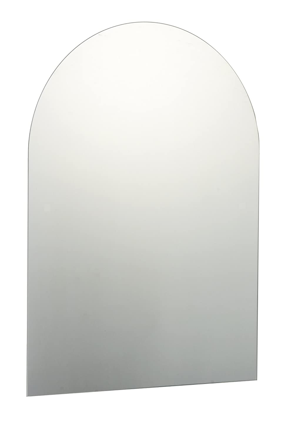70 X 50cm Plain Frameless Bathroom Arched Mirror With Wall Fixings Amazoncouk Kitchen Home