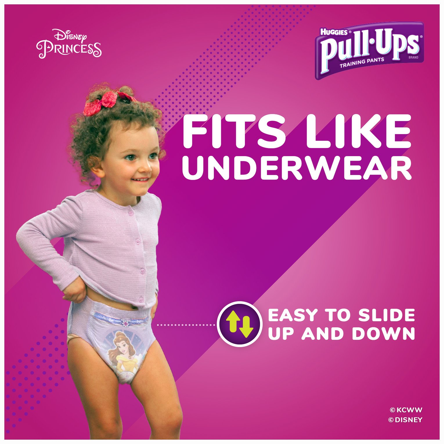 Pull-Ups Night-Time Potty Training Pants for Girls, 2T-3T (18-34 lb.), 23 Ct.- Pack of 4 (Packaging May Vary) by Pull-Ups (Image #3)