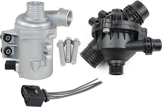 Water Pump W//Thermostat /&Bolt 11517586925 For BMW X3 128i 325i 328i 528i 530i