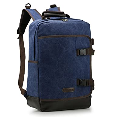 Minetom Lona Backpack Mochilas Escolares Mochila Escolar Casual Bolsa Viaje Moda Longitud Vertical Hombre Gran Capacidad