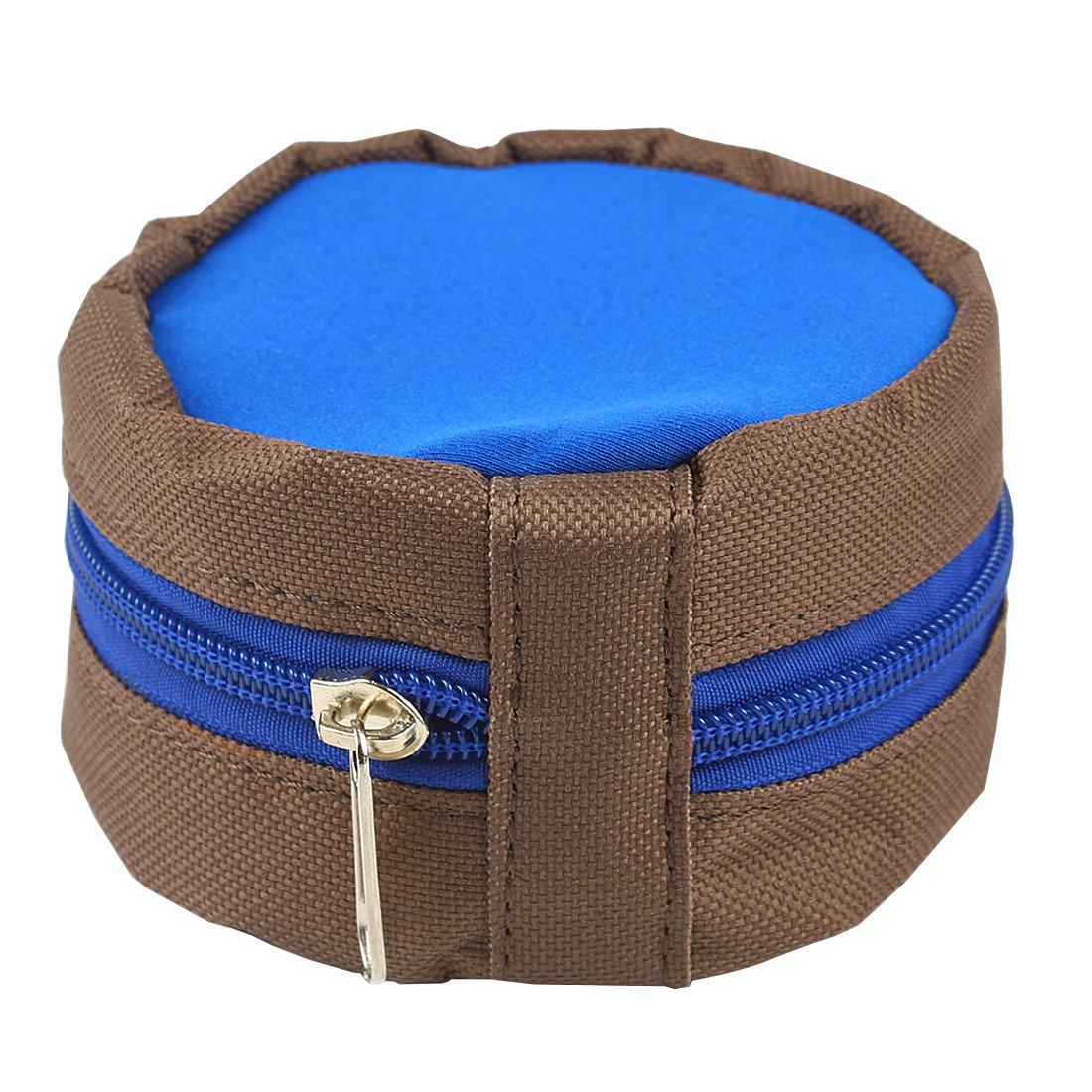 Andux Fliegenfischen Fliegenrollentasche mit Rei/ßverschluss Pouch passen 3//4 bis 7//8 F-LB01