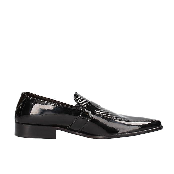 Maestri CALZATURIERI Hombre Zapatos Elegantes Negro Charol AG831 (42 EU) D3YGl