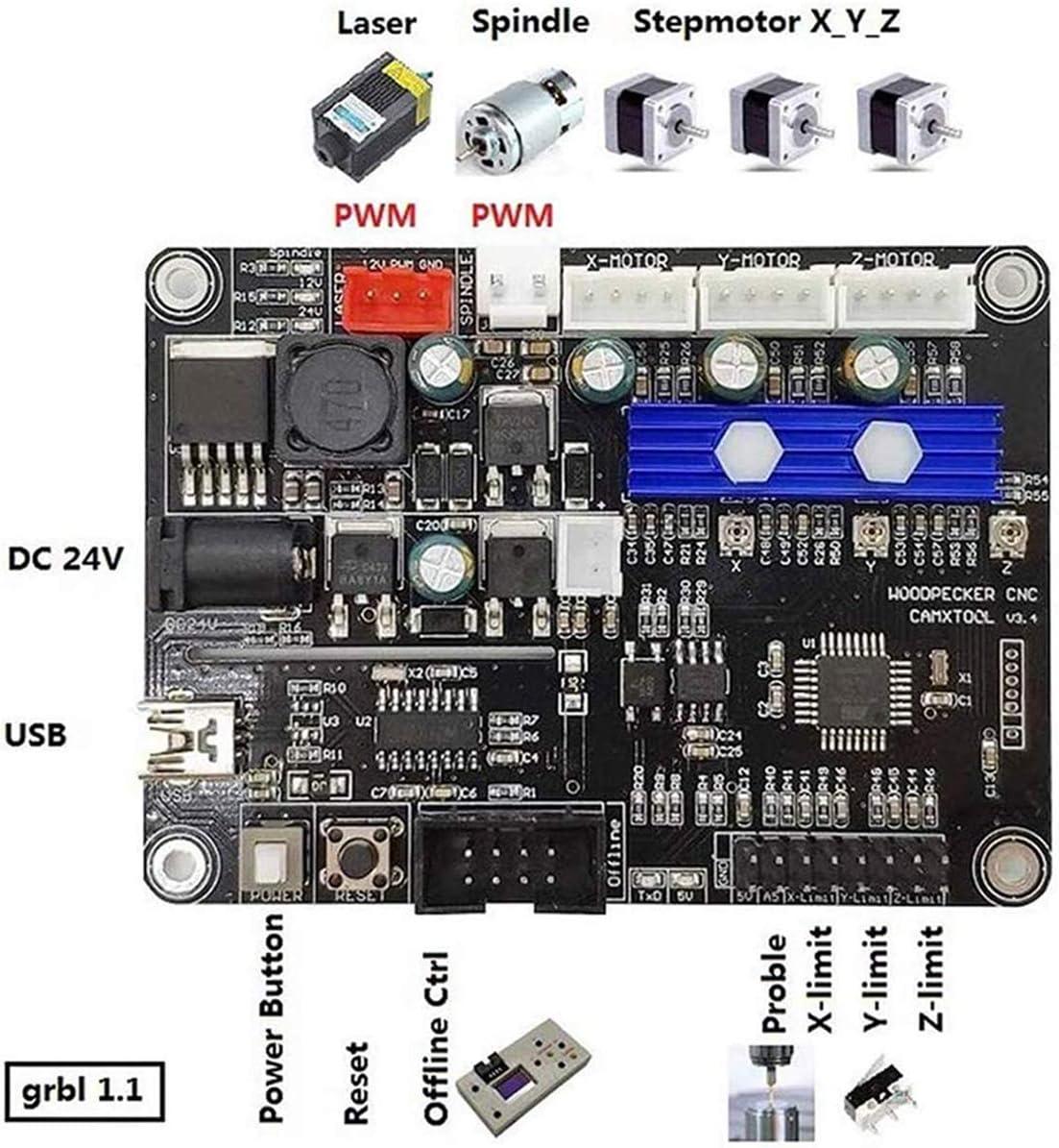 JADAZI GRBL 1.1 Puerto USB CNC Grabado Máquina Controlar Tablero 3 Ejes Controlar Panel: Amazon.es: Electrónica