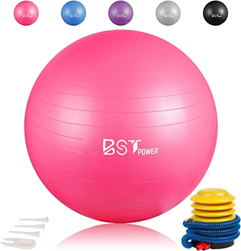 Exercise Ball,Anti-Burst Slip-Resistant Extra Thick Balance Stability Yoga Ball 65-85cm ,Supports 2000lb