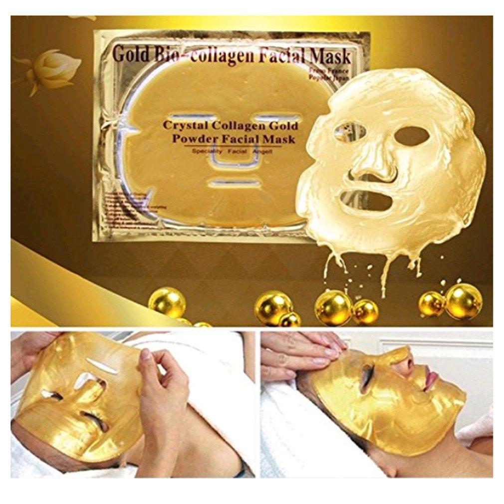 VWH Masques faciaux en collagène d'or Masque facial anti-âge Crystal Anti Aging Yingwei
