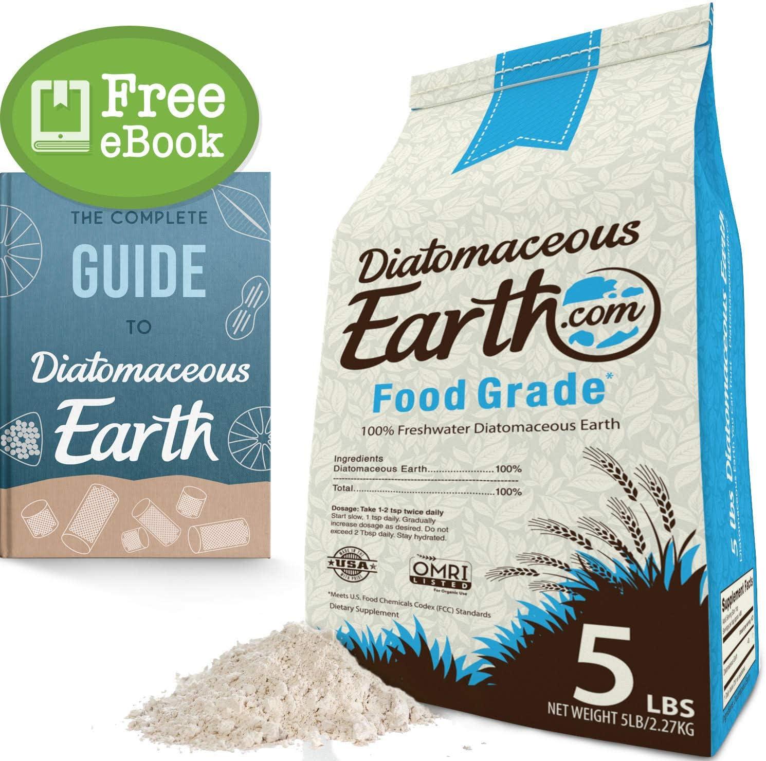 Amazon Com Diatomaceous Earth 5 Lbs Food Grade De Includes Free Scoop Garden Outdoor