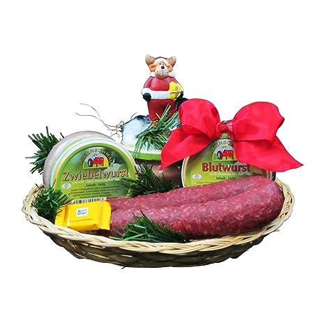 Weihnachtsgeschenke Lebensmittel.Weihnachtsgeschenk Korb Der Deftige Präsentkorb Zu Weihnachten Geschenkkorb Gefüllt Mit Deftiger Wurst Weihnachtsgeschenke Von Wurst König