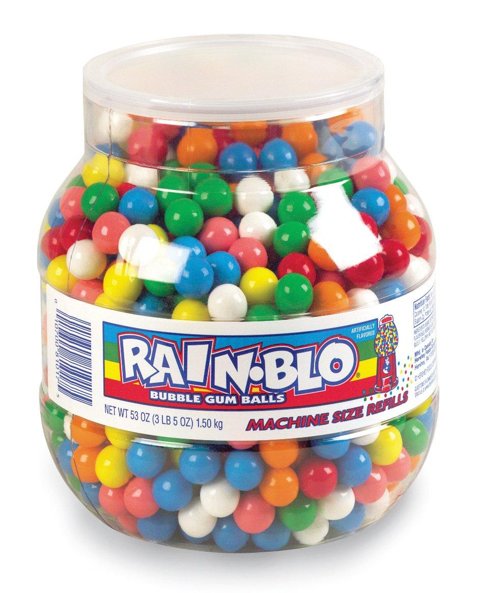 Rain-blo Bubble Gum Balls, 53 Ounce Jar