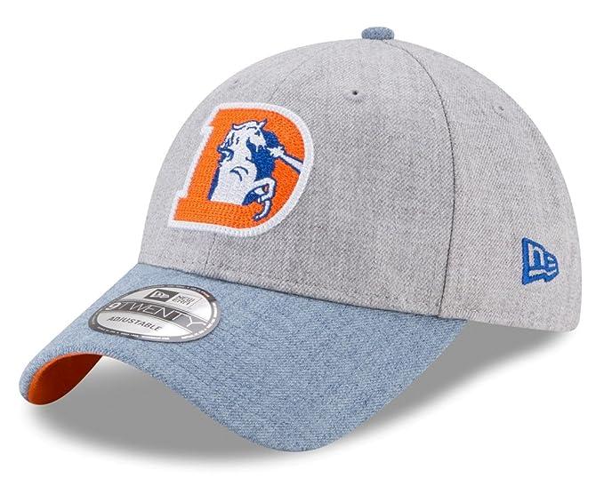 promo code a10ec 4b102 Image Unavailable. Image not available for. Color  New Era Denver Broncos  9Forty NFL Historic Heather Crisp 2 quot  Adjustable Hat