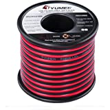 TYUMEN 18 AWG Gauge 2 Conductor Stranded 40 FT Roll Red Black Speaker Audio Cable Electrical Hookup Wire - 99.95% Oxygen Free Copper Wires