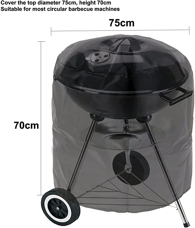 145cm*61cm*117cm,Beige Copertura Barbecue Impermeabile Telo Protettivo per BBQ Grill Anti Pioggia Polvere Sole Neve Tessuto Oxford Telo Coprente per Griglie a Gas Jbsceen Copertura per Barbecue