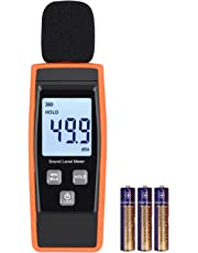 LiNKFOR Noise Meter Decibel Meter Digital Sound Level Tester Measurement Range 30 dBA -130dBA Max/Min Hold Function, LCD Display Decibel Monitoring Tester with Battery