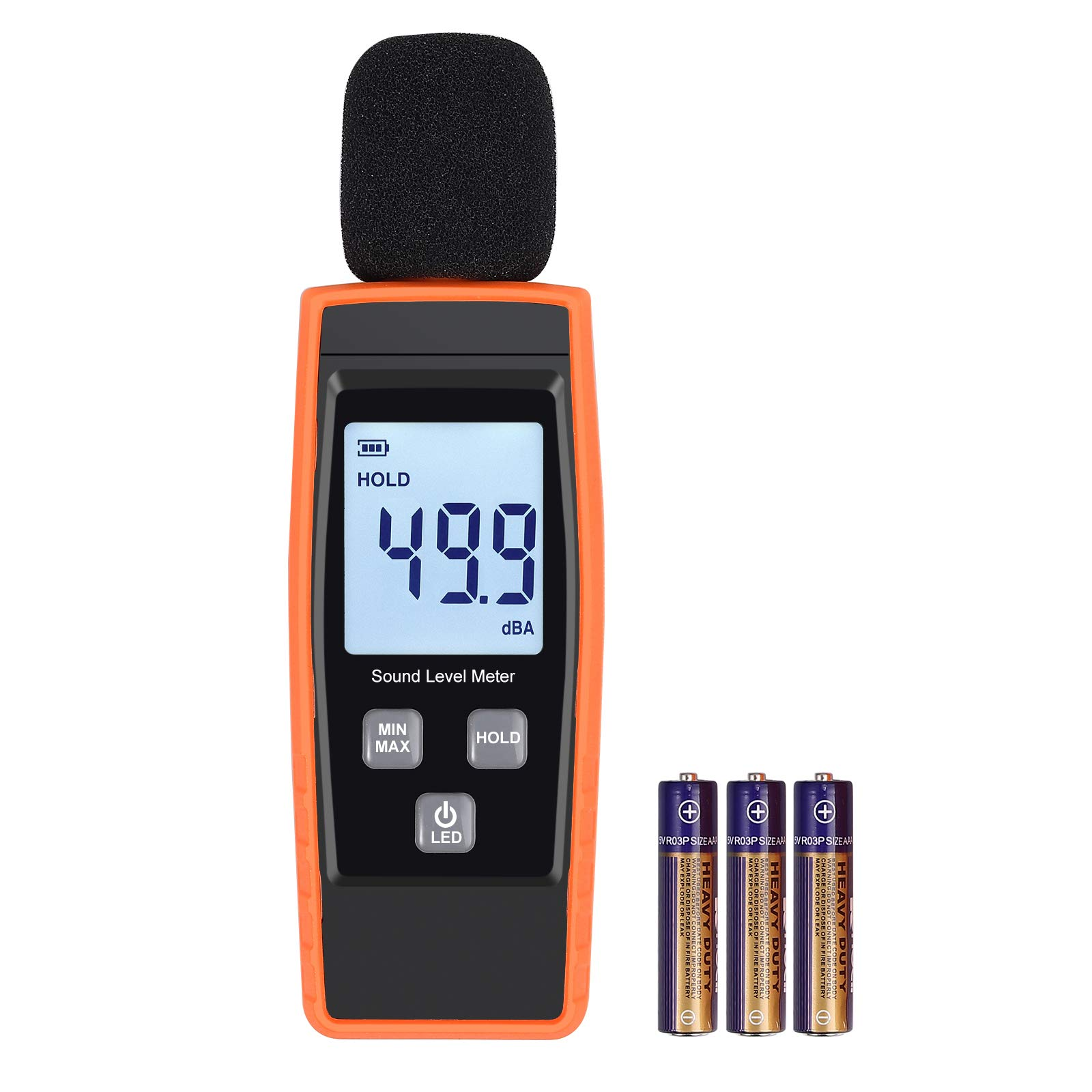 LiNKFOR Decibel Meter Digital Sound Level Tester Noise Meter Measurement Range 30dBA -130dBA Max/Min Hold Function, LCD Display, Batteries Included Decibel Monitoring Tester by LiNKFOR