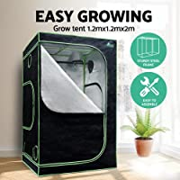 Grow Tent Greenfingers Hydroponic Light-Proof Durable Mylar Grow Room with Observation Windows Access Zippered Door Water-Proof Floor Tray for Plants Vegetables Indoor Growing