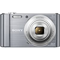 Sony Cybershot DSC-W810/SC 20.1MP Digital Camera with Free Memory Card 16GB (Silver)