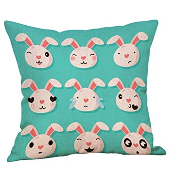 squarex algodón cuadrado de Pascua Conejo manta funda de ...