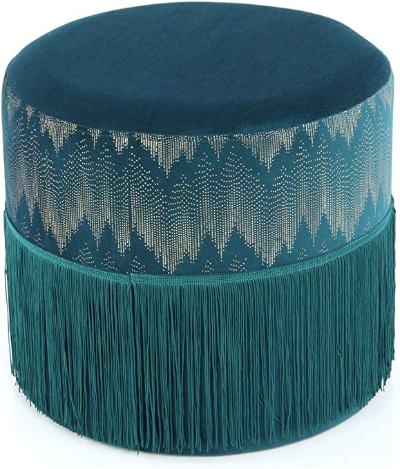 Colore Oro Beige Tortora Marrone One Couture Stile Retro Pouf In Velluto Ottomane