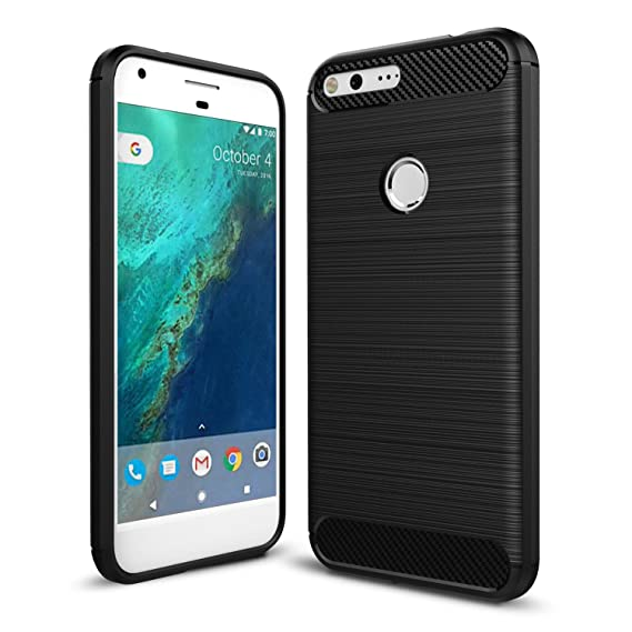 new style 84f0e a8995 Taorey Case for Google Pixel XL Case, Carbon Fiber Case with Resilien Shock  Absorption and Luxury Slim for Google Pixel XL 2016 - Black