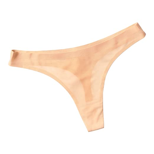 a9a6a4a30f70 Shecret Sports Thong Women s Breathe Mesh Bikini Soft Seamless Briefs  Underwear Beige
