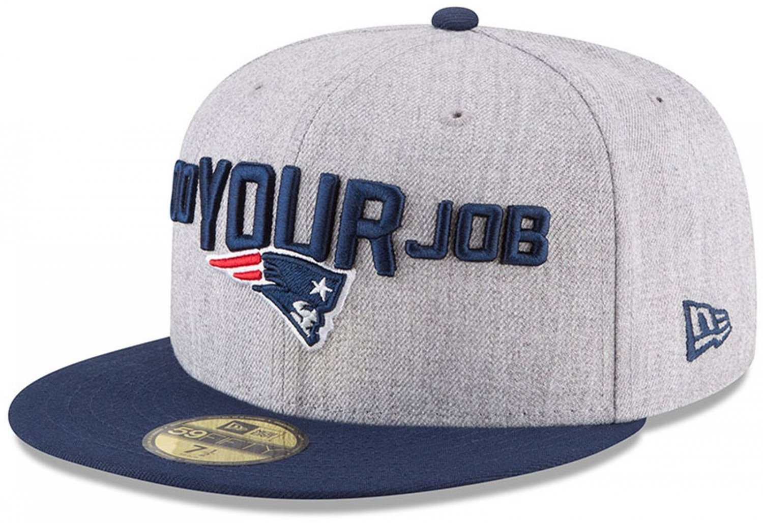 b222f6ba43c Amazon.com   New Era New England Patriots Heather Gray Navy 2018 NFL Draft  Official On-Stage 59FIFTY Fitted Hat   Sports   Outdoors
