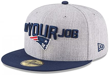 New Era New England Patriots Heather Gray Navy 2018 NFL Draft Official  On-Stage ade03686c
