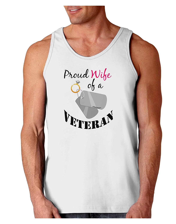 TooLoud Wife of Veteran Loose Tank Top