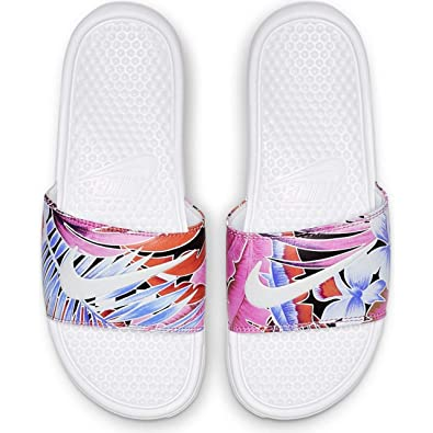 separation shoes 1e5fb 19d43 Nike Women s Benassi Just Do It. White Habanero-Ember Glow-Game