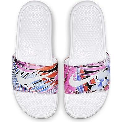 separation shoes 23c39 07106 Nike Women s Benassi Just Do It. White Habanero-Ember Glow-Game