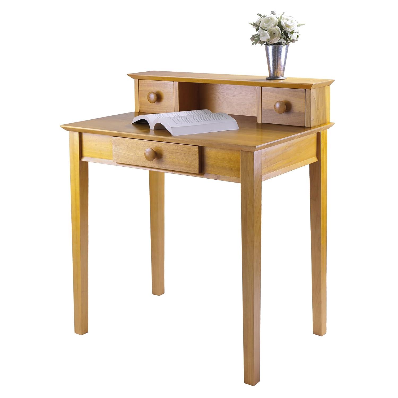 winsome wood writing desk honey amazonca home  kitchen -