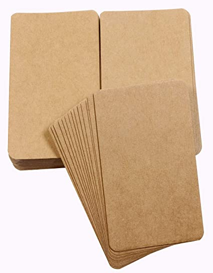 tupalizy small blank kraft paper message note business cards mini greeting place name vocabulary word flash - Kraft Paper Business Cards