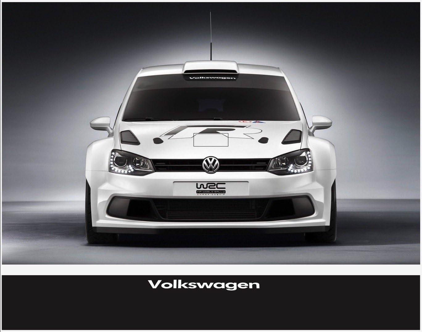 Snstyling Com Aufkleber Passend Für Vw Volkswagen Frontscheiben Sonnenblendstreifen Aufkleber 300mm X 30mm Auto