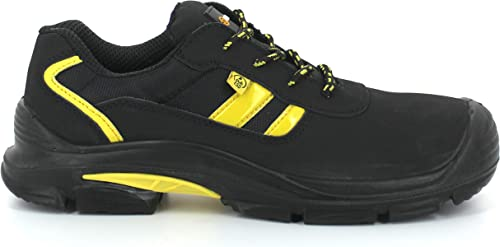 Foxter Chaussures de sécurité | Mixte : Hommes et Femmes | Basses | Baskets de Travail | Légères et Respirantes | Imperméable | sans métal | Cuir