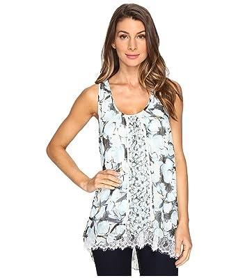 5d453f9c1311b Karen Kane Womens Lace Hem Tank Top at Amazon Women s Clothing store