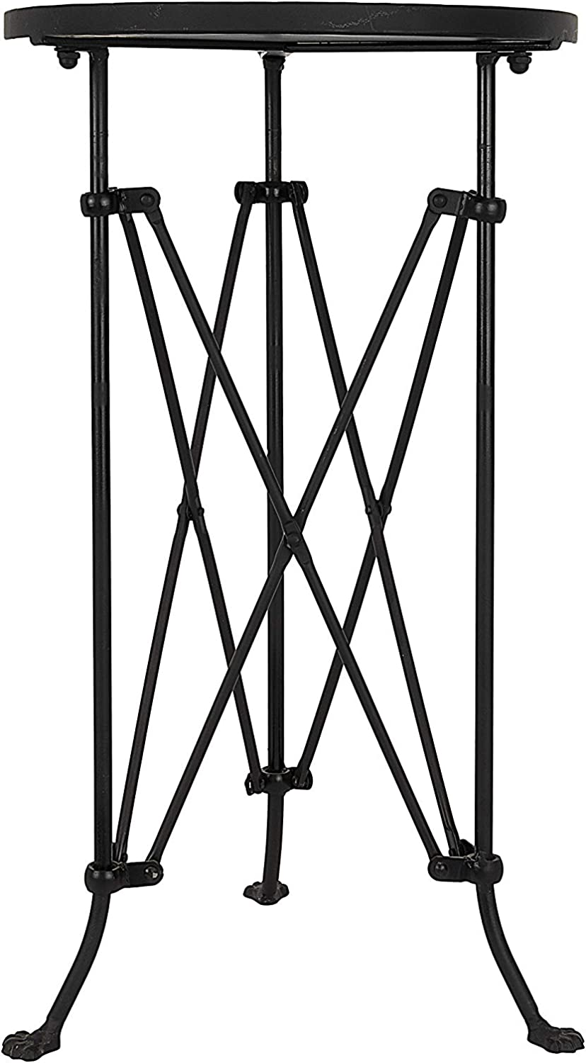 """Creative Co-op Round Metal Accent Table, 25"""", Black"""