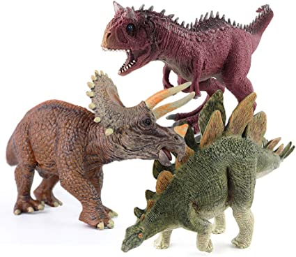 Jurassic Dinosaurs Plastic Animal Figures Kids Stegosaurus Triceratops Toy Model