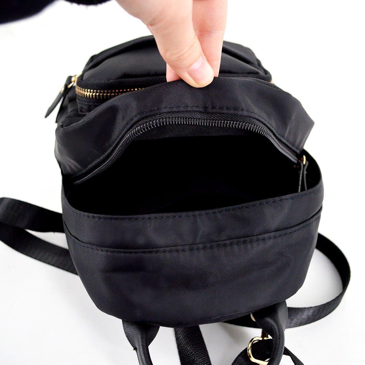 abee151d097a Amazon.com  CLARA Camouflage Women Mini Backpack Nylon Leisure Daypack  Printed Shoulder Bag Handbag Purse(Black)  Shoes