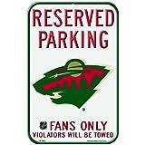 NHL Minnesota Wild 11-by-17 Inch Locker Room Sign