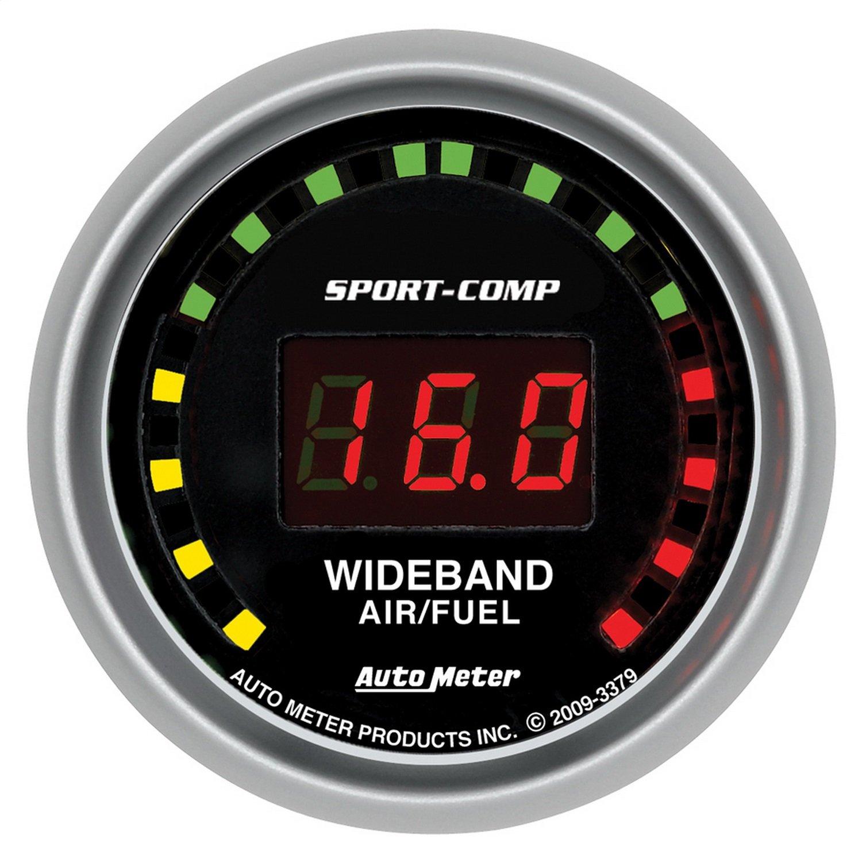 Auto Meter 3379 Sport-Comp 2-1/16' Wide Band Street Air/Fuel Gauge