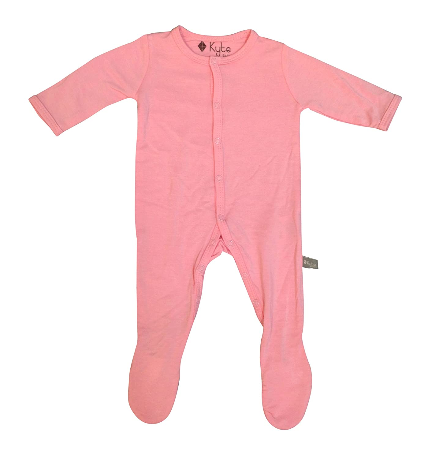 KYTE BABY Solid Footies (Newborn, Petal)