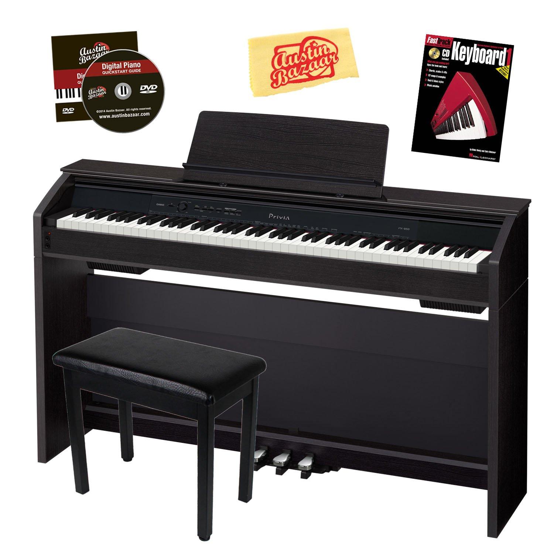 Casio Privia PX-850 88-Key Digital Piano Bundle with Bench - Black CAS-PX850BK-COMBO-DLX