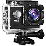 "Action Camera, Fivanus WIFI Action Cam Novatek NT96655 Full HD 1080P 14MP 170° Grandangolare 2"" Schermo LCD Impermeabile a 30m Sports Camera Fotocamera Videocamera Digitale Cam con 2 Batterie e Kit Acessory Inclusi"