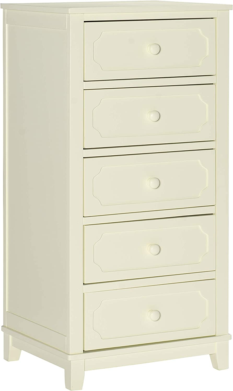 Linon Home Decor Products Linon White 5 Drawer Storage McCartney Chest