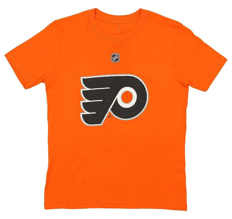 Youth XLarge 18//20 OuterStuff Claude Giroux Philadelphia Flyers NHL Youth HD Net Player T-Shirt Orange