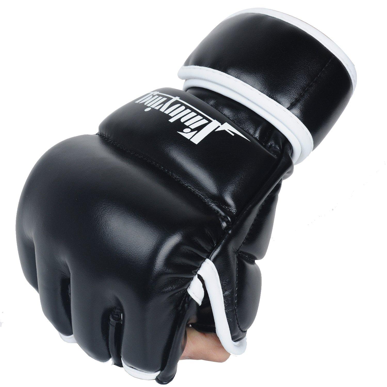 Xinluying Gants MMA Homme Gants Sac Frappe Muay Thai Boxe Grappling Combat Entra/înement Prot/ège Poignet